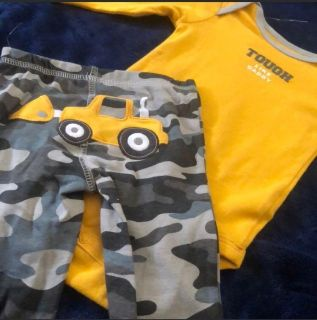 Camouflage boys outfit