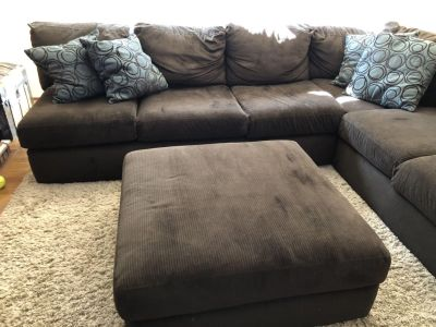 Large Chocolate Brown Couch