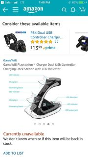 PS4 Charging Dock Station with LED Indicator