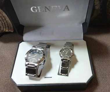 Geneva His and Her Watch Set