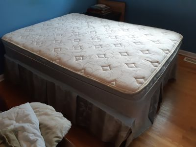 Double Bed with Bedframe