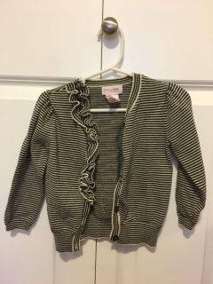 18 month ruffled and striped cardigan