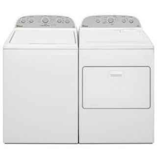 Whirlpool Top Load Washer and Dryer WTW5000DW/WED5000DW