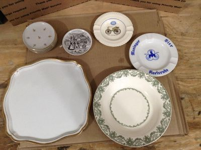 Mixed Lot of Vintage Tableware and Ashtrays