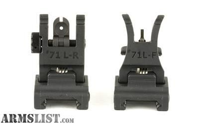 For Sale: A.R.M.S., Inc., Sight, Fits Picatinny, Polymer Front and Rear Folding, Black 71LF-R