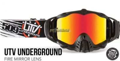 Purchase 509-UTV Underground Dirt MX-5 Goggles - Fire Mirror Lens motorcycle in Sauk Centre, Minnesota, United States, for US $79.95