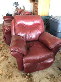 Matching reclining couch and chair