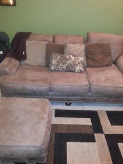 Brown Sofa Ottoman  Dresser set for sale items look like new