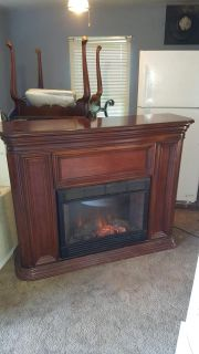 VERY PRETTY BIG ELECTRIC FIRE PLACE HEATER NEED GONE TODAY!!!