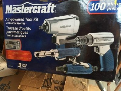 Never used Mastercraft Air-powered Tool Kit with Accessories Kit