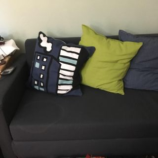 Navy blue IKEA couch