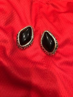 Brand New Silver And Black Gorgeous Earrings