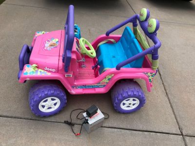 Electric Barbie Jeep with rechargeable battery