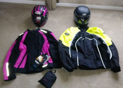 Motorcycle gear.
