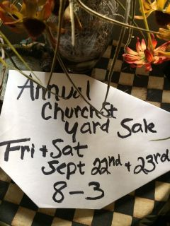 Annual Church Street Yard Sale