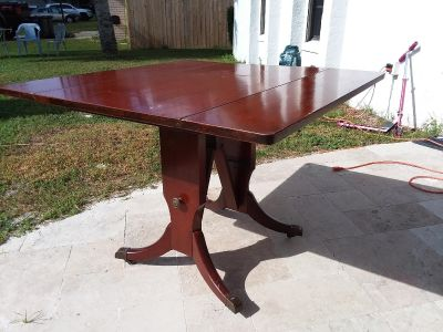 Antique table and coffee table