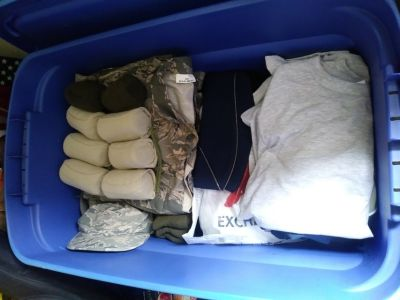 Brand NEW Air Force ABUs, Service Blues, PT uniforms, boots, and dress shoes