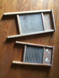 2 OLD WASHBOARDS