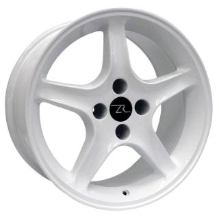 Buy White Mustang Cobra R Wheels 4 lug 1987-1993 17x9, 17 Inch Rims motorcycle in Katy, Texas, US, for US $419.00