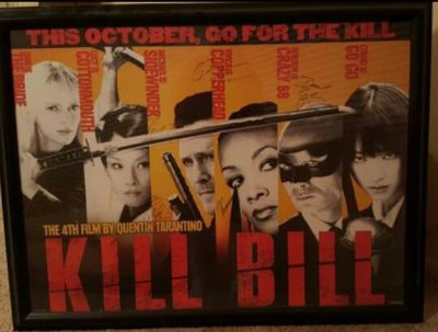 Signed and Authenticated Kill Bill Movie Poster