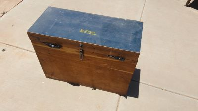 Large old military trunk