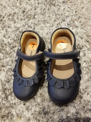 Toddler Navy Mary Jane Shoes - Size 7