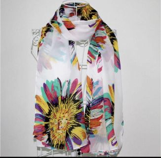 New in Package Womens Spring Floral Scarf