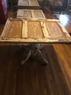 UNIQUE and AMAZING solid wood rustic table