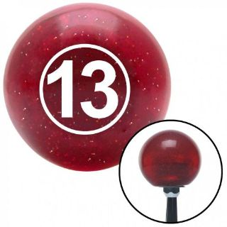 Buy White Ball #13 Red Metal Flake Shift Knob with 16mm x 1.5 Insertrack rod top motorcycle in Portland, Oregon, United States, for US $29.97