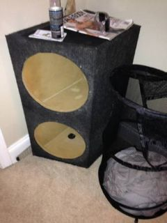 Enclosed sub woofer box  (FolsomCovington)