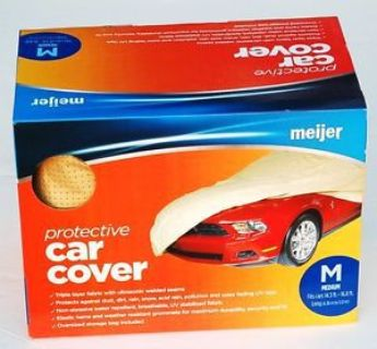 Buy MEIJER NON-ABRASIVE TRIPLE LAYER PROTECTIVE CAR COVER UV PROTECTION MEDIUM NEW! motorcycle in Perrysburg, Ohio, United States