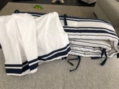 Pottery Barn Crib Skirt & Bumper