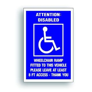 Purchase Magnetic Sign Extra Large HANDICAP Disabled Ramp 8' Access wheelchair van 208XM motorcycle in Mentor, Ohio, United States, for US $25.98