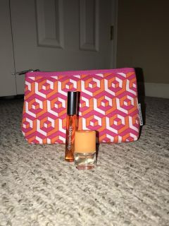 New Clinique Happy Perfume Roll On Travel Spray Overnight Makeup Bag