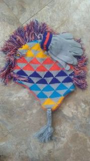 Boys hat and glove set