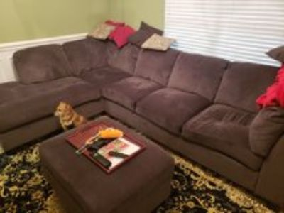 large sectional and ottoman