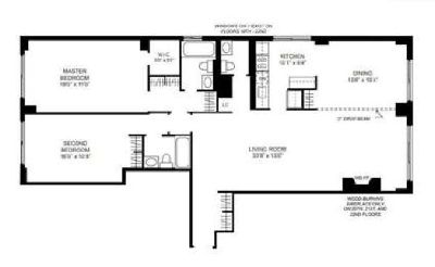 Convertible 3 bedroom apartment for rent