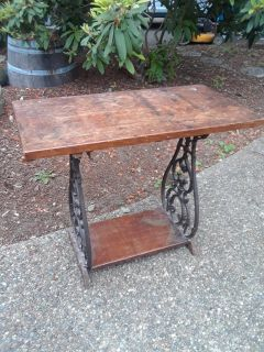 Vintage Table Old Sewing Table? Cast Iron