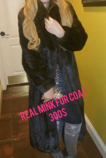Autentic real mink fur coat