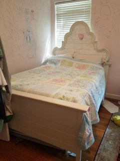 Pottery Barn White Bed Frame and Trundle