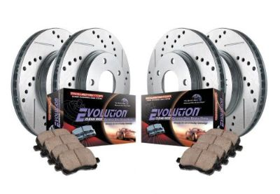 Sell Power Stop K1868 Front & Rear Drilled & Slotted Rotors & Z16 Ceramic Brake Pads motorcycle in Fresno, California, United States, for US $299.00
