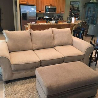 Sofa and Storage Ottoman excellent condition