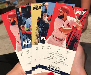 5 cardinals tickets $50 (valued at $25/ticket so $125 for all)