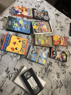 VHS and DVD Pok mon collection
