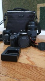 Canon Rebel T3 with 2 lenses