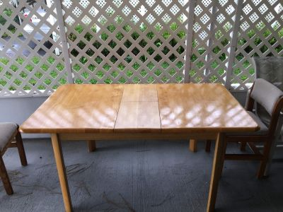Wood table and chairs great condition SF home