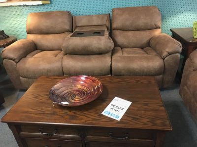 Sofa with drop down console and Rocking Loveseat