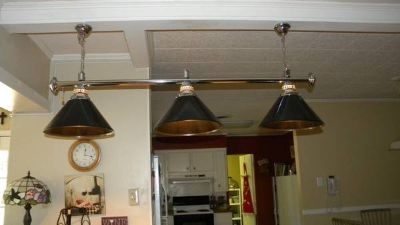 Pool Table Light, 3 fixture - PRICE REDUCED