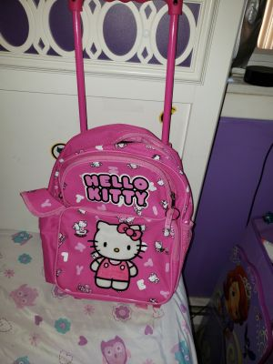 Like new hello kitty rolling backpack