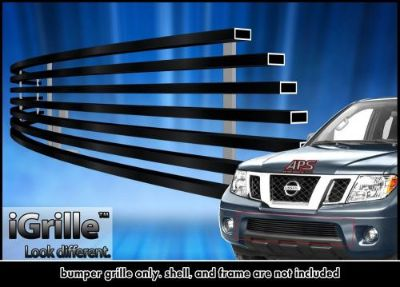 Buy Fits 05-15 Nissan Frontier/05-07 Pathfinder Bumper Black Stainless Billet Grille motorcycle in Ontario, California, United States